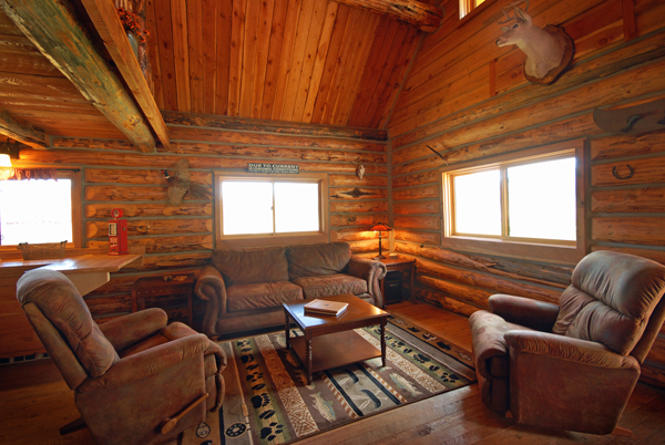 Copper John Living Room - Cabin on the Big Hole River