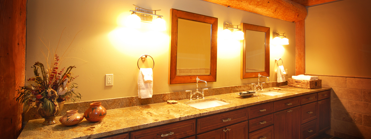 Montana Luxury Lodge - elk suite bathroom