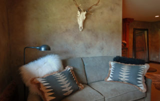 Sitting Area Equestrian Suite at the Silver Bow Club Montana