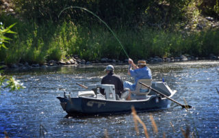 Fly Fishing the Big Hole River in Montana in summer