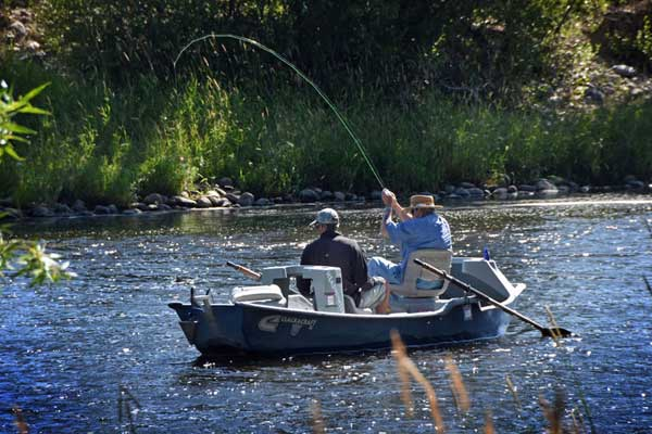 Fly Fishing the Big Hole River in a Drift Boat