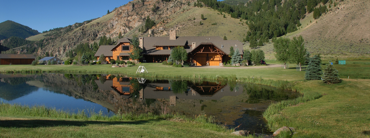 Trout Pond at the Silver Bow Club on the Big Hole River Montana