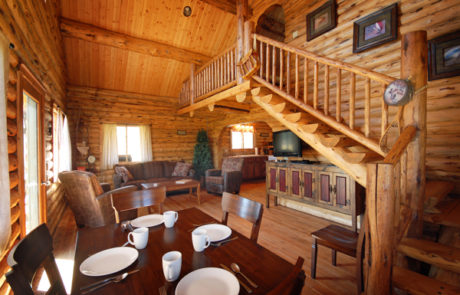 Salmonfly Cabin Dining Area on the Big Hole River
