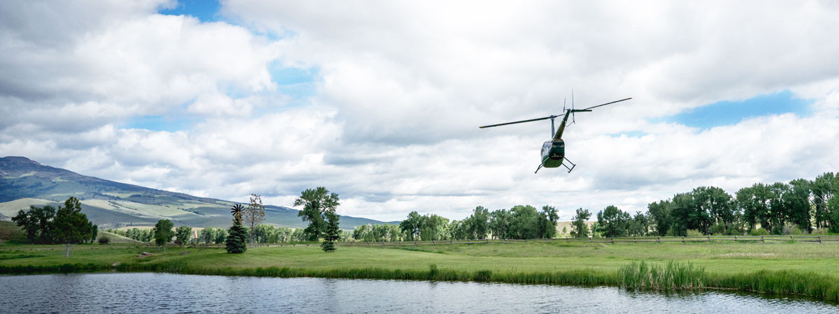 Luxury Montana Fishing Resort - Helicopter-Aerial-Photo-Flights-in-Montana