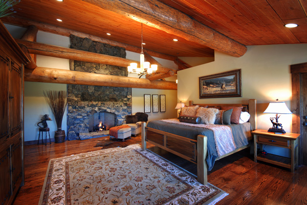 Luxury suites at fly fishing lodge in Montana on Big Hole River.