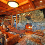 Montana Luxury Resort Great Room with Fireplace
