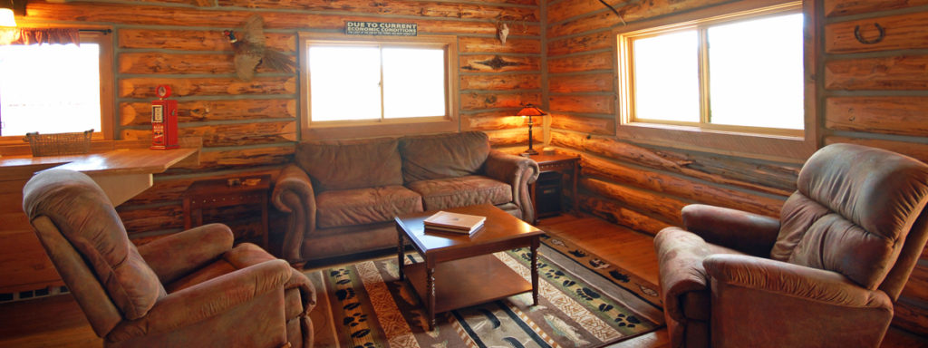 Cabin On The Big Hole River   Log Cabin Living Room, Copper John, On