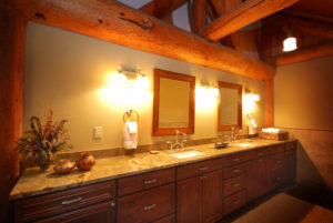 Luxury Resorts Montana, Bathroom in the Elk Suite at the Silver Bow Club, Montana