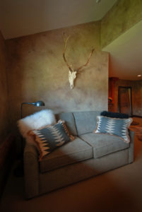 Luxury Resorts Montana, Equestrian Suite Sitting Area at the Silver Bow Club