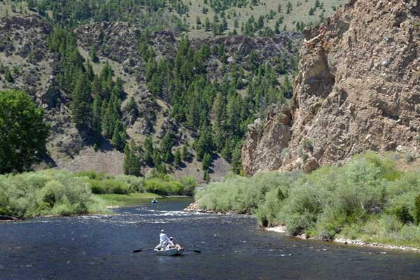 Floating the Big Hole River in Montana