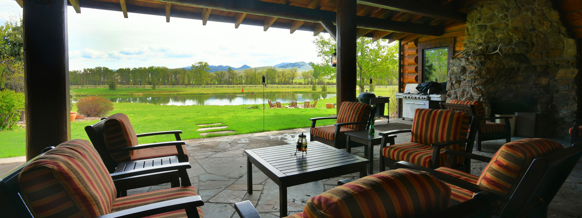 Montana Luxury Lodge - Patio at the Silver Bow Club in Montana