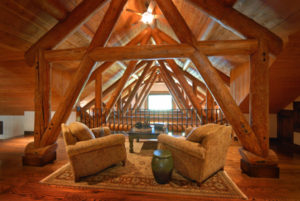 Luxury Montana Fishing Resort - 2nd Floor Sitting Area, Silver Bow Club, Montana