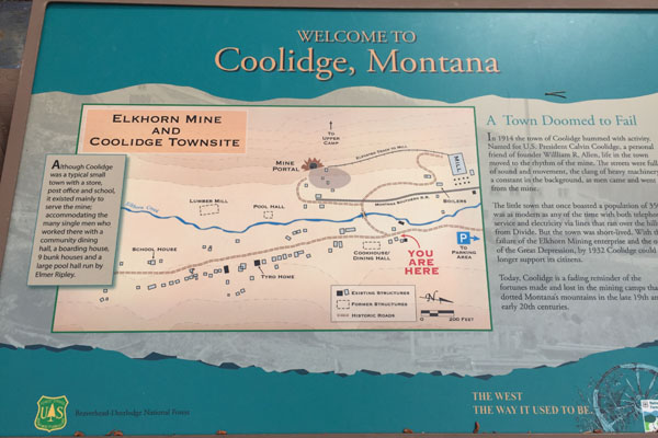 Coolidge Ghost Town Interpretive Kiosk