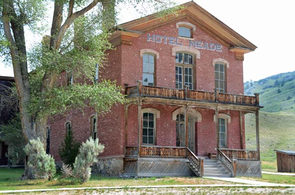 Hotel Meade in Bannock Ghost Town