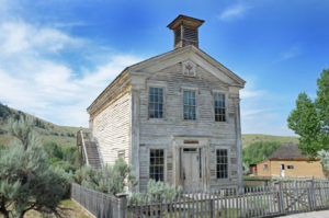 Town Hall at Bannack Ghost Town in Montana