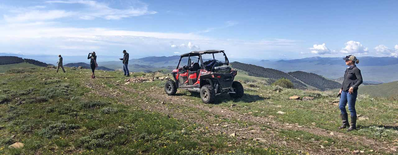 ATV Tour to Mountaintop in Montana