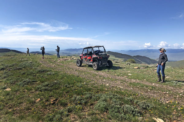 Mountaintop ATV tours near the Big Hole River in Montana