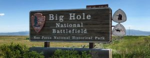 Big Hole Battlefield Sign in Montana
