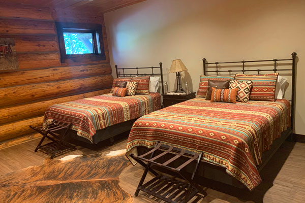 Western Room at the Silver Bow Club on the Big Hole River in Montana
