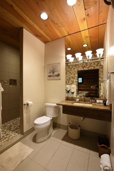 Lodge Room Bathroom at the Silver Bow Club in Montana