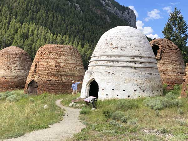 Viewing a Restored Charcoal Kilns