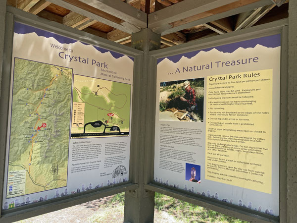 Crystal Park Interpretive Signage