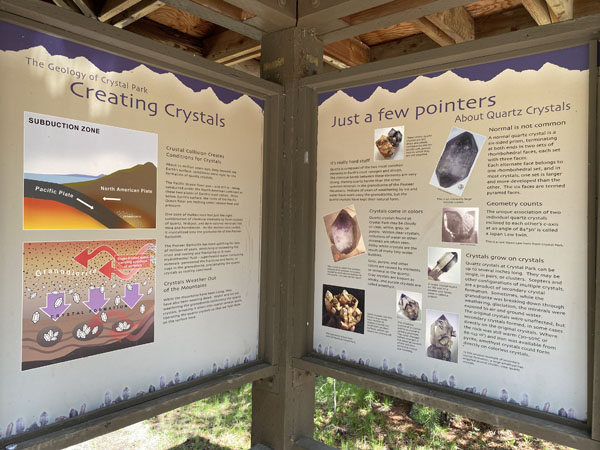 Crystal Park Interpretive Signs